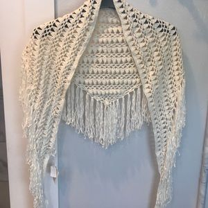 🆕Club Monaco Ivory/White handmade Wrap!